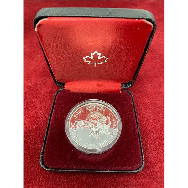 "1983 ""Universiade-Edmonton"" Canadian Silver Dollar"