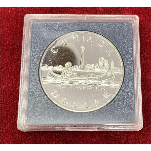 1984 Canadian Silver Dollar (Sealed Case)
