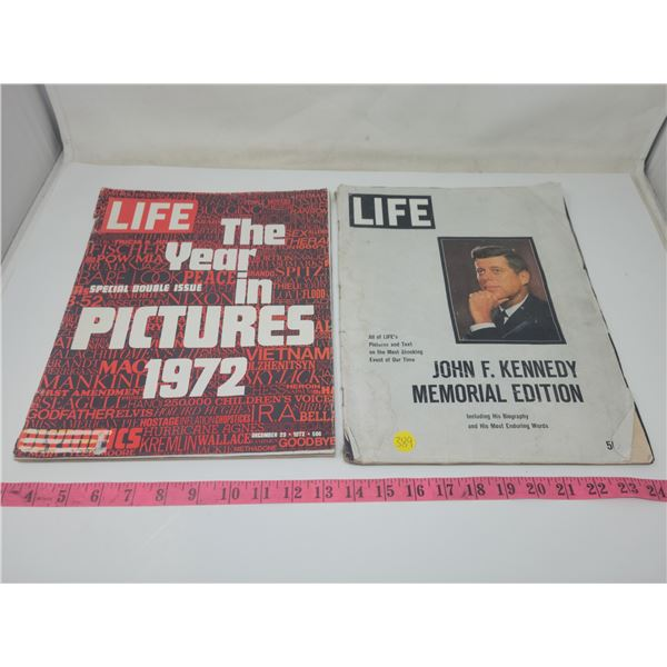 LIFE Magazine: John F. Kennedy Memorial Division & LIFE Magazine: The Year in Pictures 1972