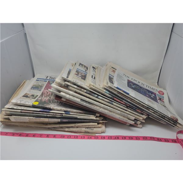 Old newspapers: Globe & Mail, National Post, Prince Albert Daily Herald & Star Phoenix