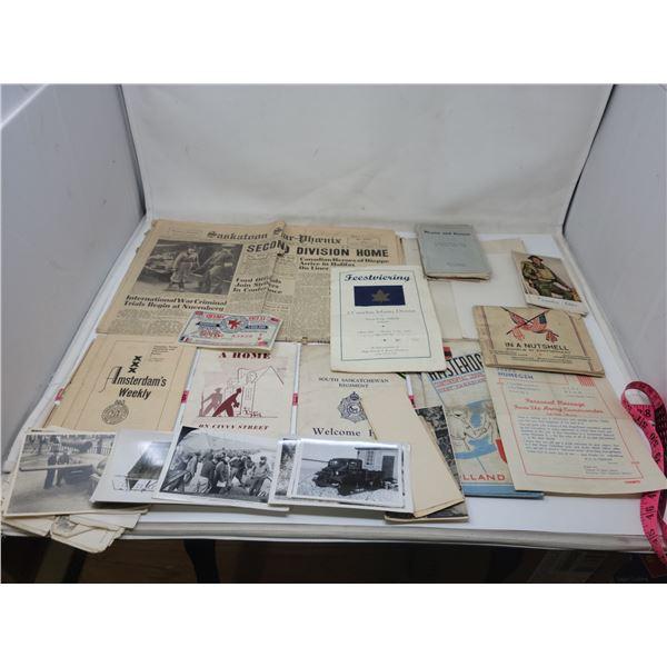 Military photos & postcards & 5 colored postcards by Lilias Torrance Newton, R.C.A.