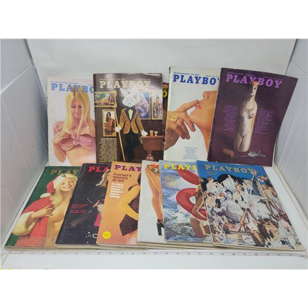 Playboy magazines Jan-Dec 1972