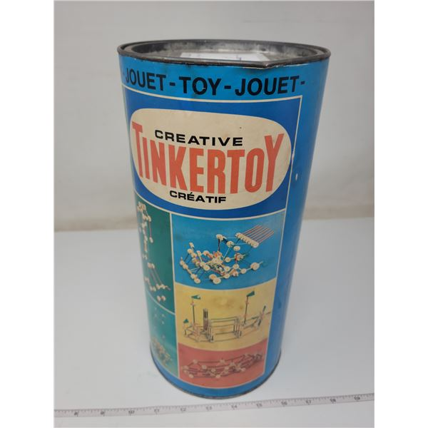 Half full can of Tinker toys (in own box)