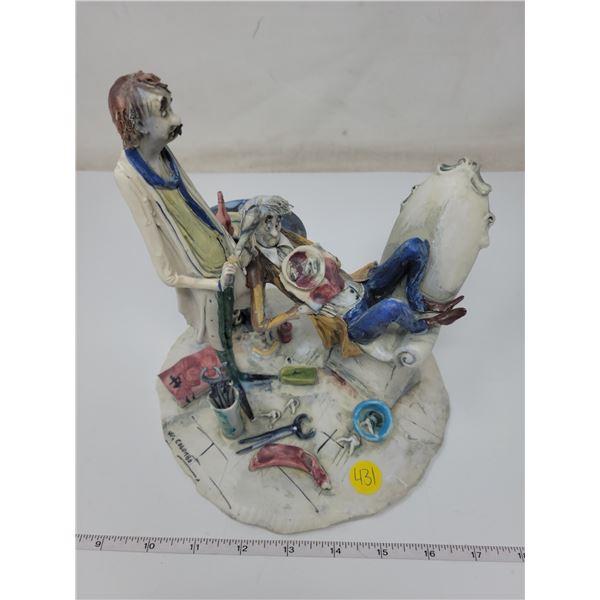 Dentist & Patient figurine