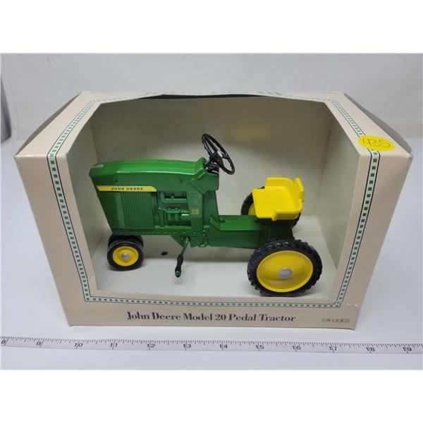 die cast John Deere model 20 pedal tractor, Ertl.
