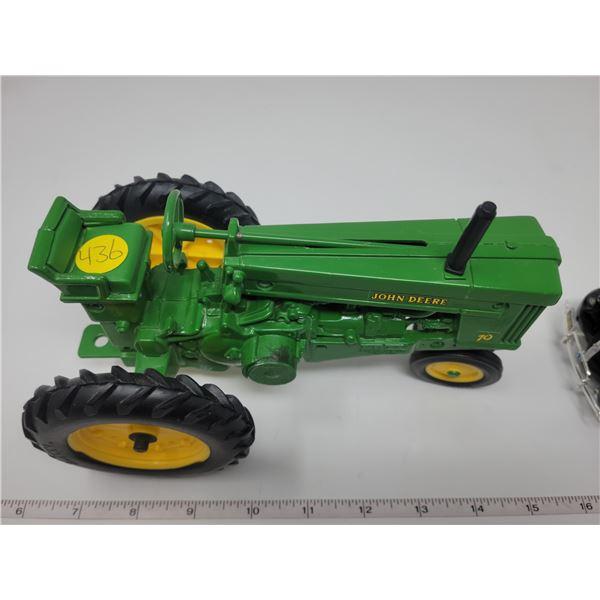 "John Deere 70 tractor, 7.5"" wide. Appears die cast and Ertl (no box)"