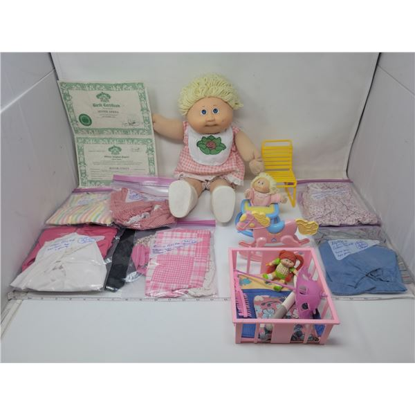 Cabbage patch Kids Bonnie Gerda, authentic outfit, Birth Certificate & Adoption papers.