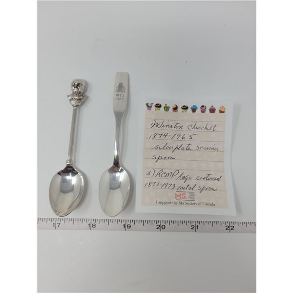 1874-1965 Winston Churchill Centenary silverplate souvenir teaspoon exquisite E.P.N.S., Metal RCMP l