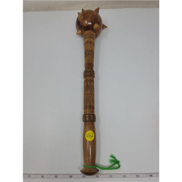 "Souvenir Crossack's handmade wooden Mace (Balava) from Ukraine, 15"" long."