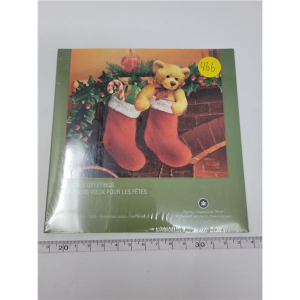 Sealed Seasons Greetings canada coin set 2005