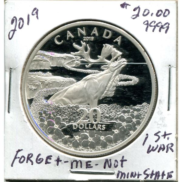 2019 $20.00 Forget Me Not .9999