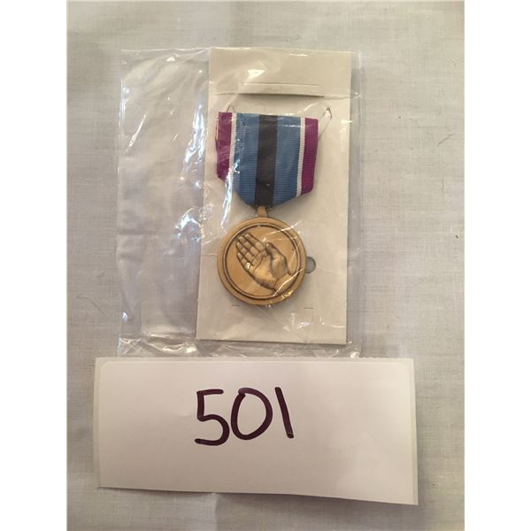 501 - US Military Humanitarian service medal, With Box