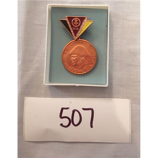 507 - Cold War Era East German reservist medal