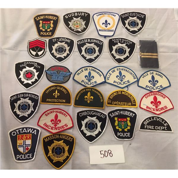 508 - 25 assorted patches
