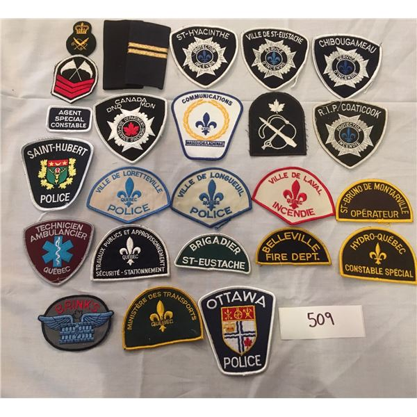 509 - 25 assorted patches