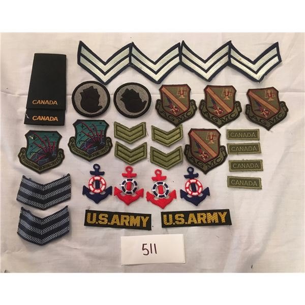 511 - 30 assorted patches