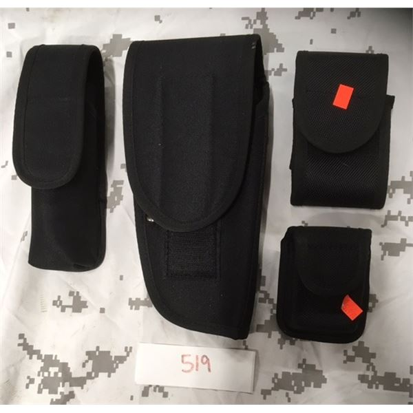519- Nylon Pistol Holster, baton Holder and Pouches