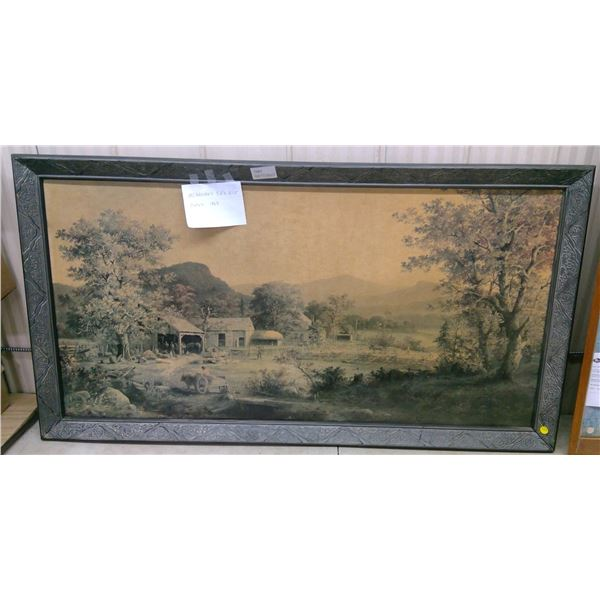 "Antique Picture in Frame - 52""x27.5"""