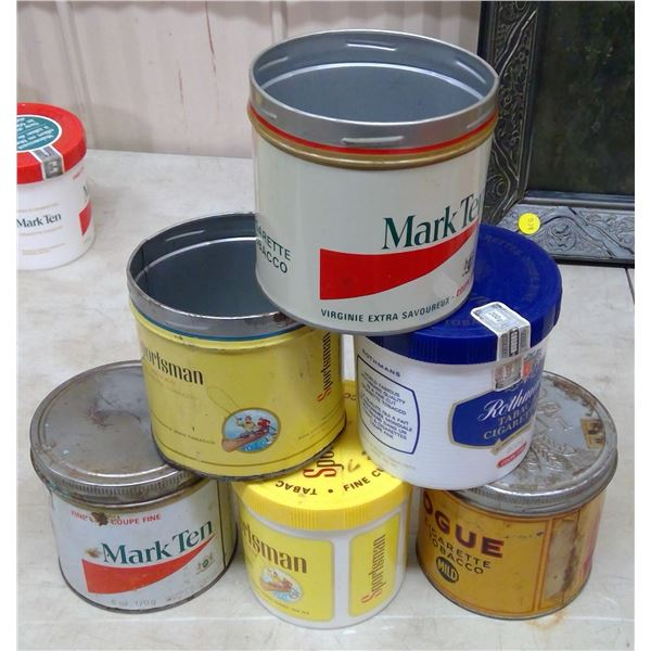 Lot of Vintage Tobacco Tins