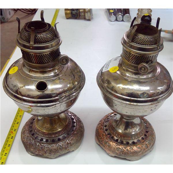 2 - Oil Lamps - no Shades