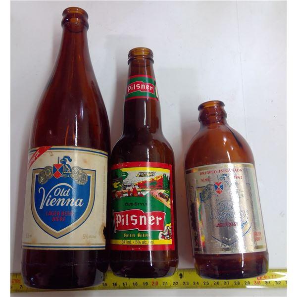 Lot of Old Glass - 3 Beer - OV, Pil, OV Stubbie