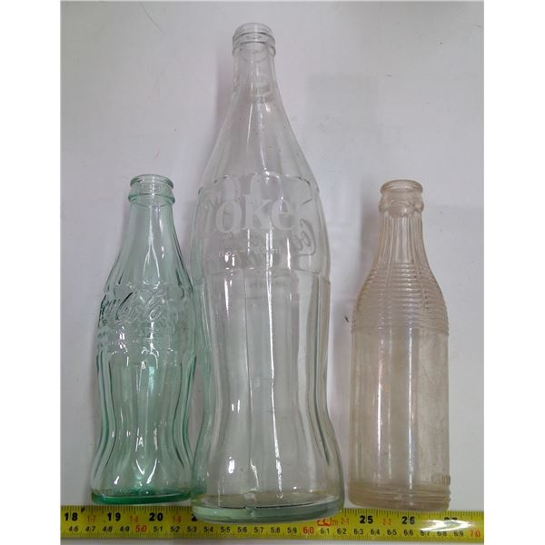Lot of Old Glass - 3 Pop - 2 - Coca Cola