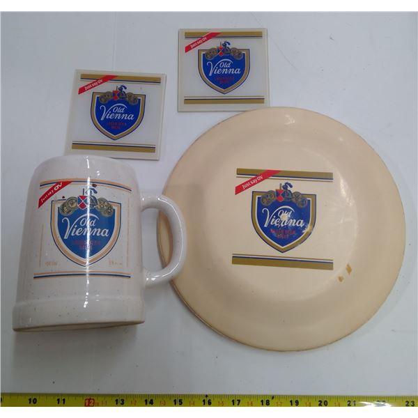 OV Collectible Lot - Frisbee, Mug, Coasters