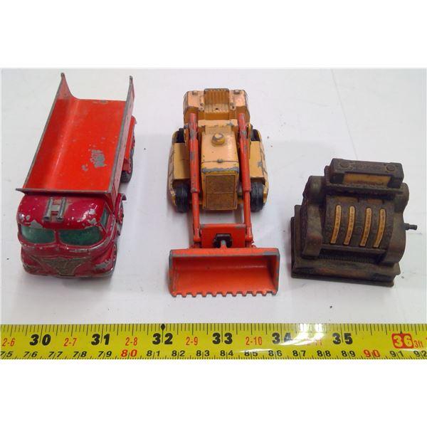 Lot of 3 Mini Toys - Loader, Truck, Cash Register