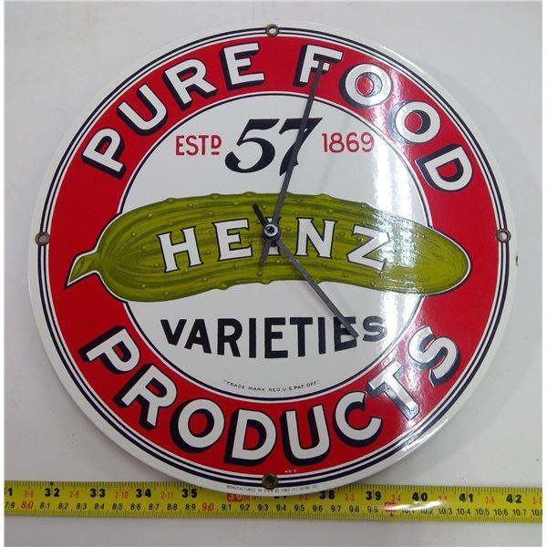 Heinz 57 Tin Wall Clock