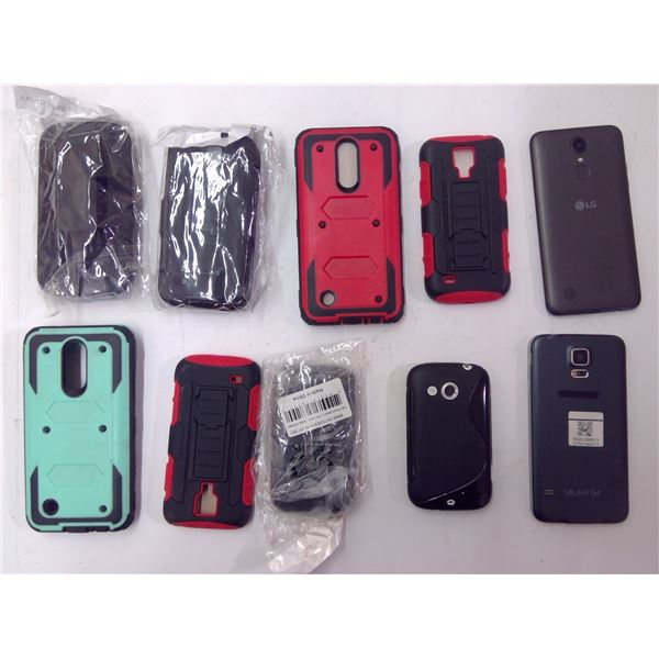 Assorted Cell Phones & Cases - see details in pics