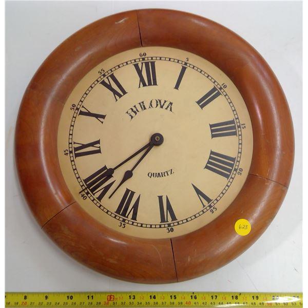 Wooden Bulova Wall Clock