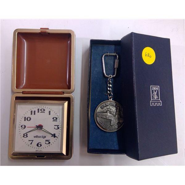 Travel Alarm Clock & Keychain