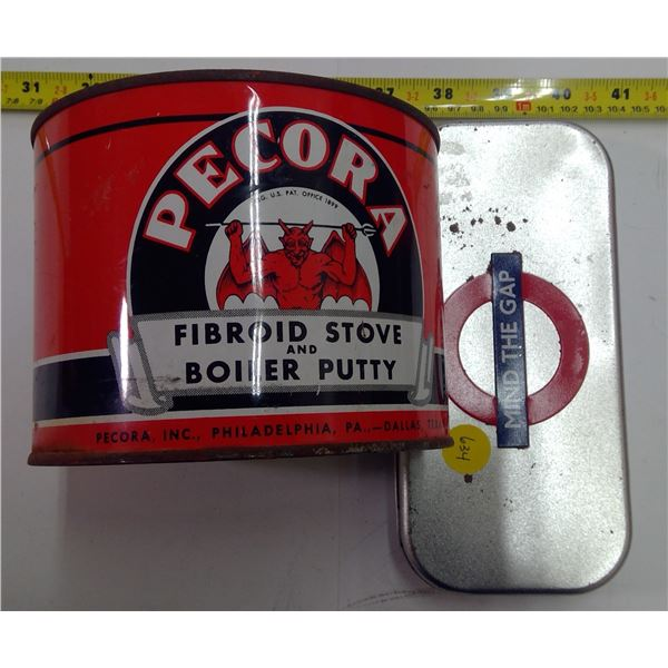 2 Tins - Pecora Fibroid Stove & Boiler Putty, Etc.