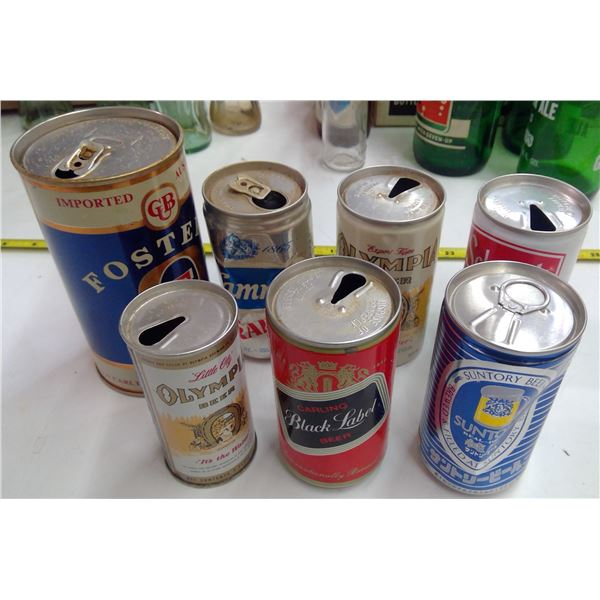 Lot of Beer Cans