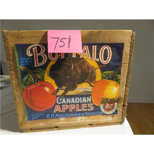 Buffalo apple box - Kelowna, BC