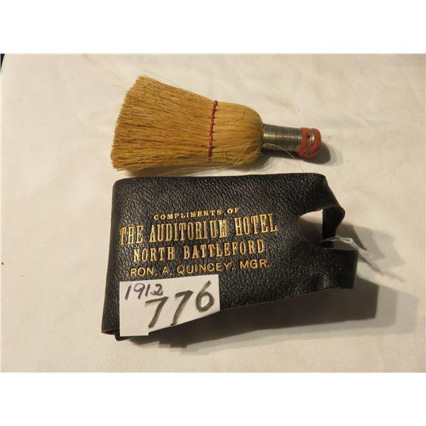 vintage auditorium hotel 1912 - North Battleford - cloths brush - shoe brush