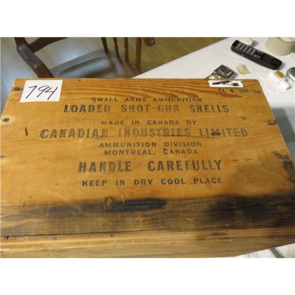 CIL ammunition box
