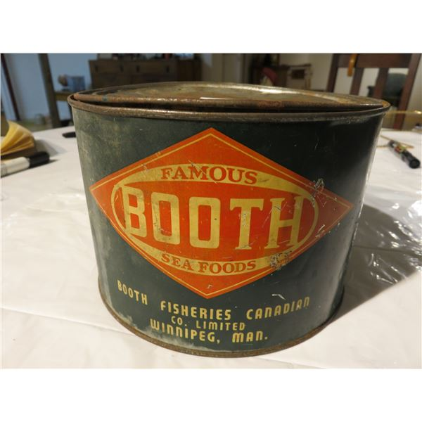Vintage herring scotch cured tin, Booth fisheries, Winnipeg, Canada