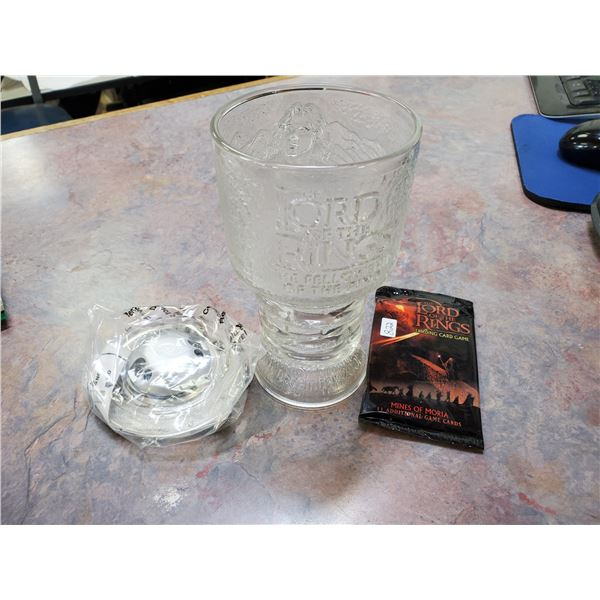 lord of the rings light up goblet & cards