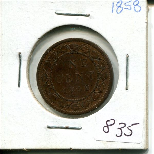 1858 canadian 1 cent