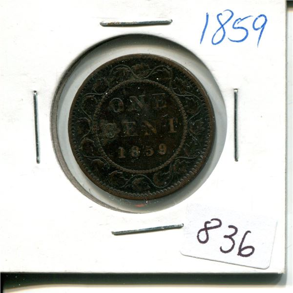 1859 canadian 1 cent