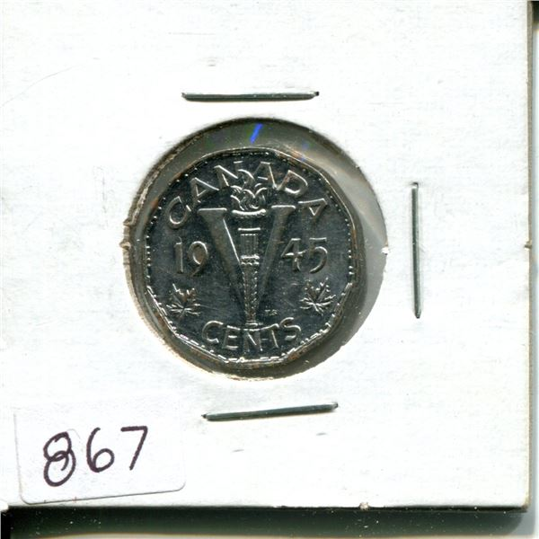 1945 5 cent victory nickel