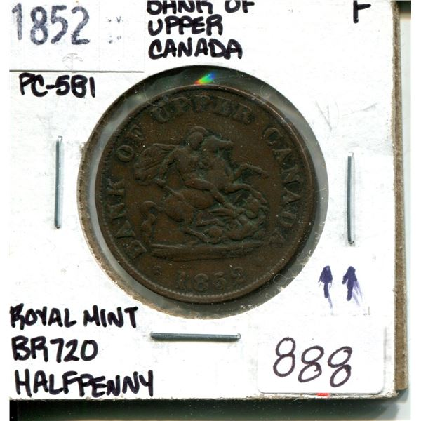 1852 half penny (die axis ^^) royal mint