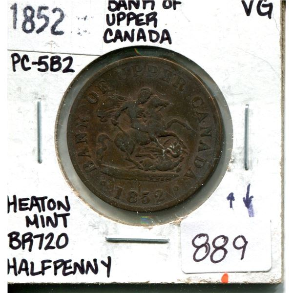 1852 half penny (die axis ^v) heaton mint