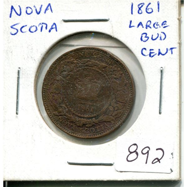1861 one cent nova scotia