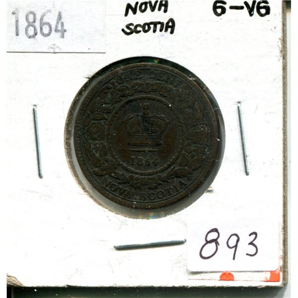 1864 one cent nova scotia