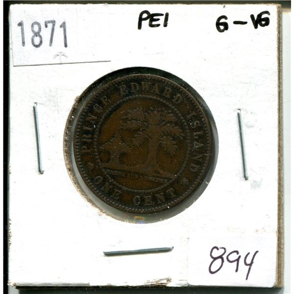 1871 one cent prince edward island
