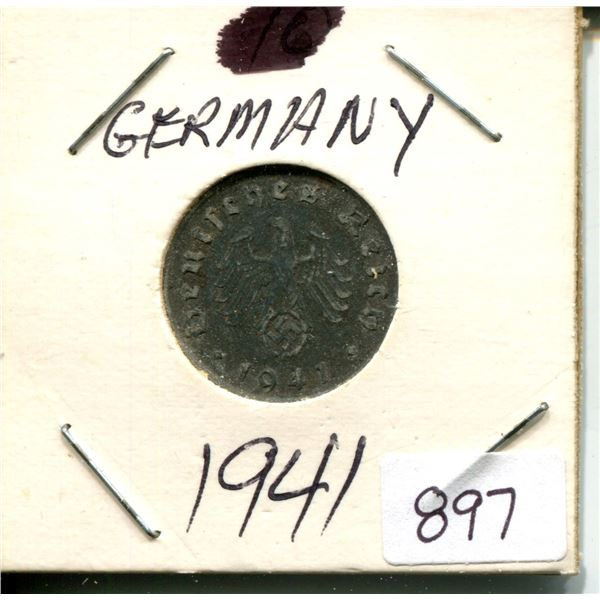 1941 germany WWII coin