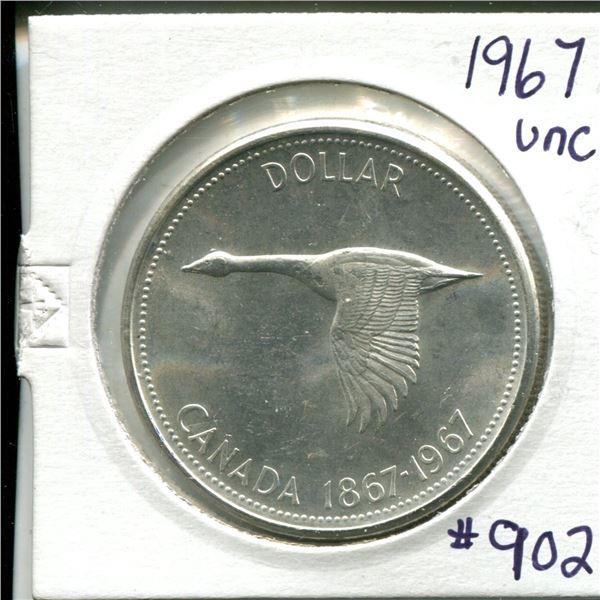 1967 silver dollar UNC