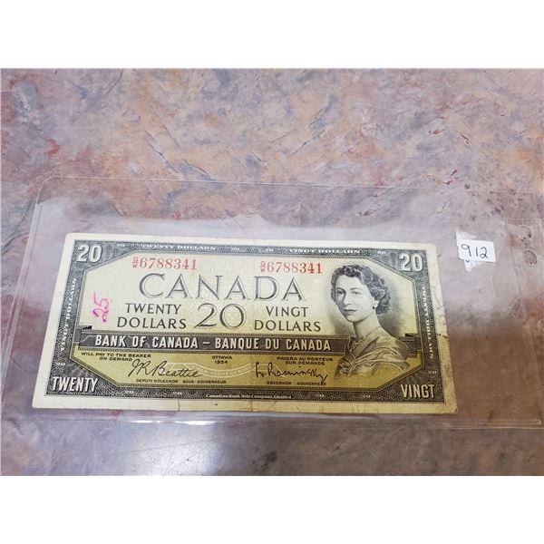 1954 $20 bill